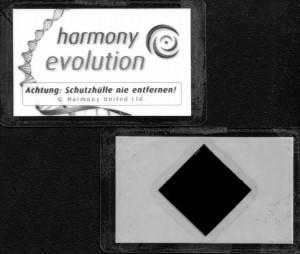 Vorder- und Rückseite des Harmony-Chips